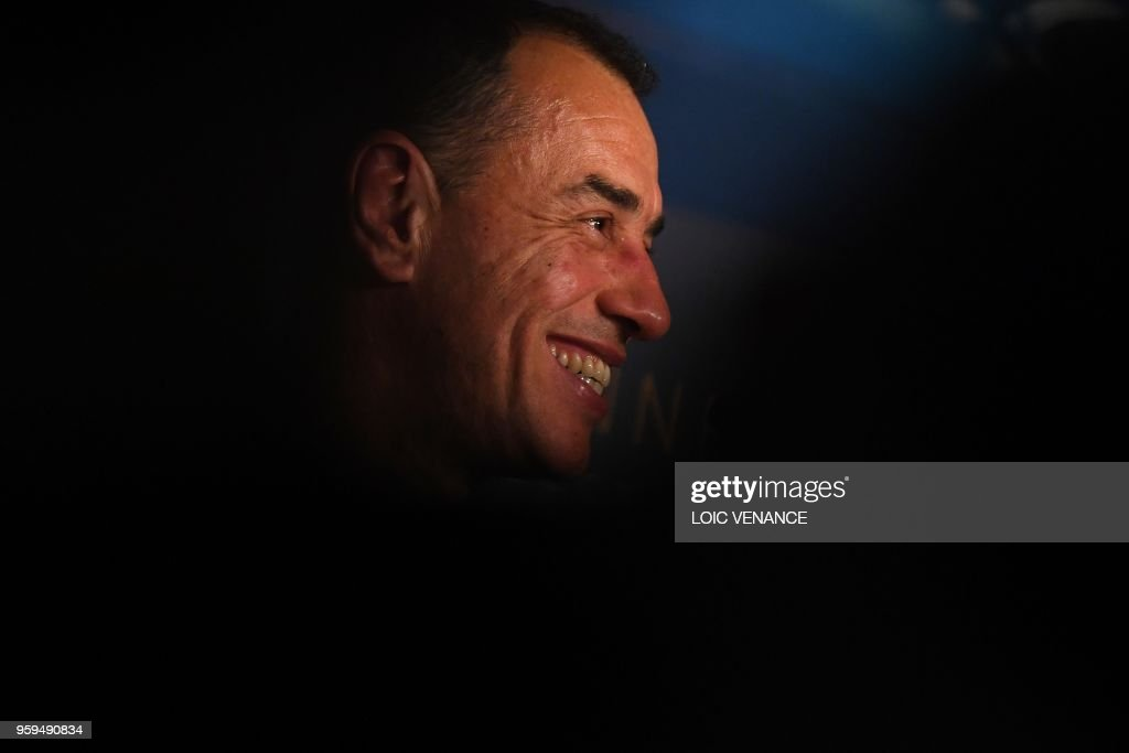 Italian director Matteo Garrone attends on May 17, 2018 a press conference for the film 'Dogman' at the 71st edition of the Cannes Film Festival in Cannes, southern France.