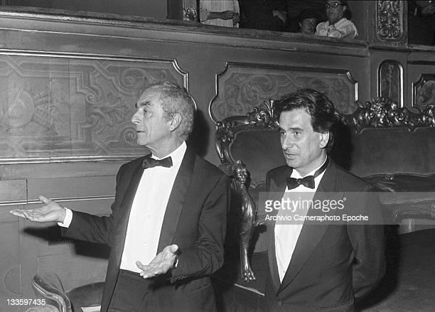 Italian director Michelangelo Antonioni during the 'Tribute to Ingrid' celebration Venice 1983