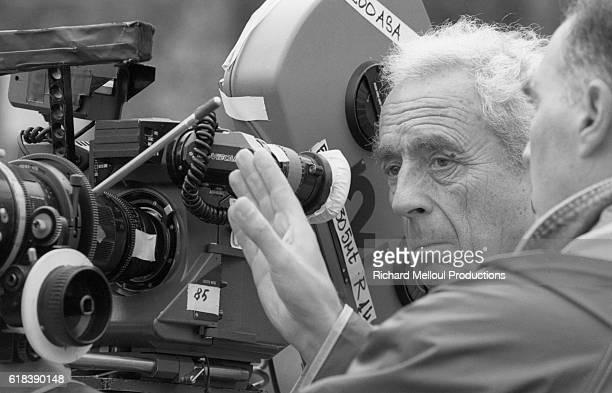 Italian director Michelangelo Antonioni on the set of the FrancoItalianGerman film Al di la delle Nuvole which was codirected by Antonioni and Wim...