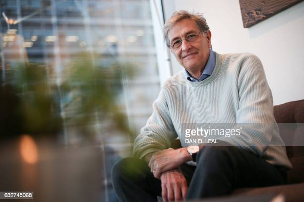 Italian director of the European Medicines Agency Guido Rasi poses for a portrait at the organisation's headquarters at Canary Wharf in east London...