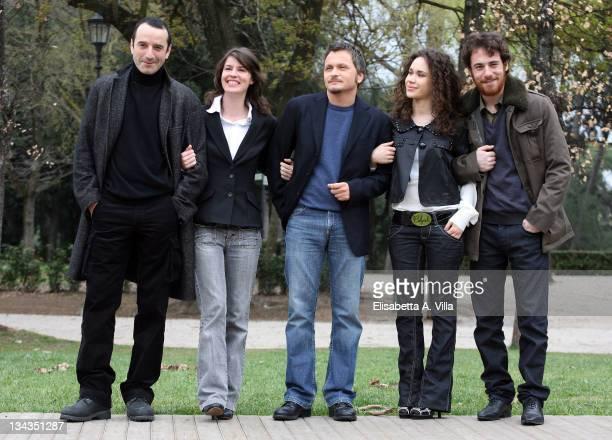 Italian director Paolo Franchi with actors Bruno Todeschini Irene Jacob Mimosa Campironi and Elio Germano attend the 'Nessuna Qualita Agli Eroi'...