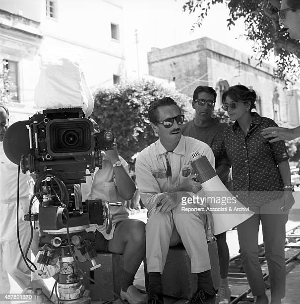 Italian director Pietro Germi preparing a scene in Seduced and Abandoned Italy 1963