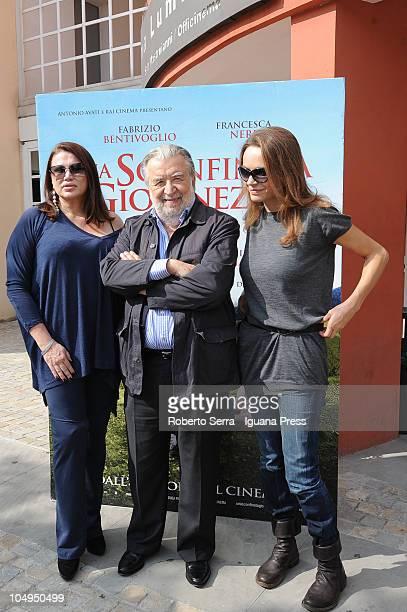 Italian director Pupi Avati actresses Serena Grandi and Francesca Neri attend the screening of his latest film 'Una Sconfinata Giovinezza' at...