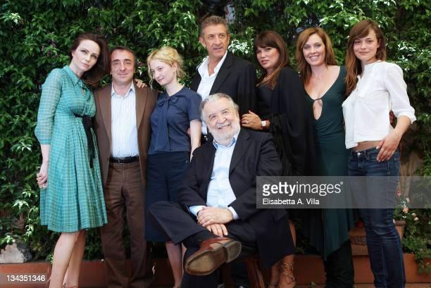 Italian director Pupi Avati with actors Francesca Neri Silvio Orlando Alba Rohrwacher Ezio Greggio Serena Grandi Manuela Morabito and Valeria Bilello...