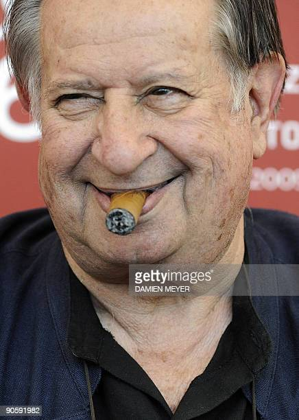 Italian director Tinto Brass poses during the photocall of Hotel Courbet at the Venice film festival on September 11 2009 Hotel Courbet is presented...