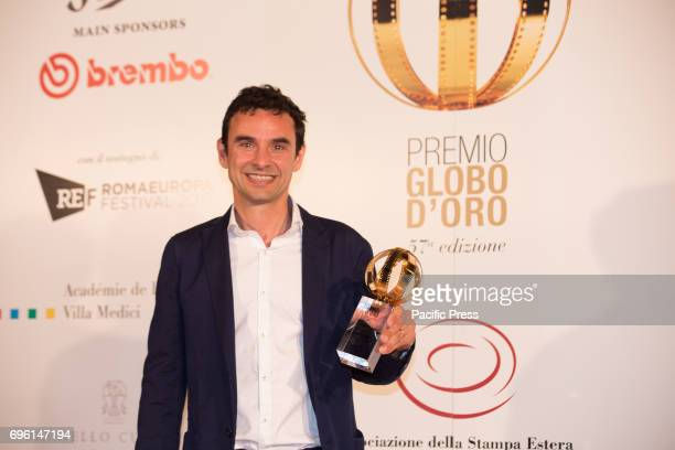 Italian director Tommaso Santi during the photocall of the 2017 Globe Awards ceremony evening in the Villa Medici Gardens