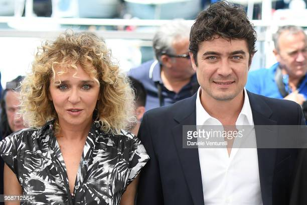 Italian director Valeria Golino and Actor Riccardo Scamarcio attend the photocall for Euforia during the 71st annual Cannes Film Festival at Palais...