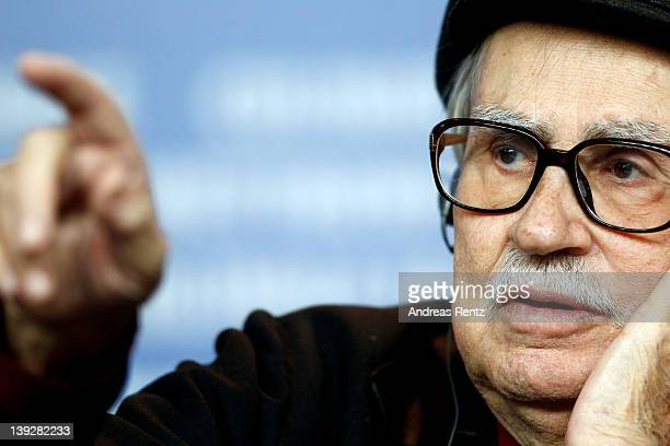 Italian director Vittorio poses after receiving the Golden Bear prize awarded for their film 'Caesar Must Die' at the Award Winners Press Conference...