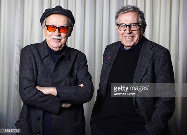 Italian directors Vittorio Taviani and his younger brother Paolo Taviani attend 'Cesare deve Morire' Portrait Session during day four of the 62nd...