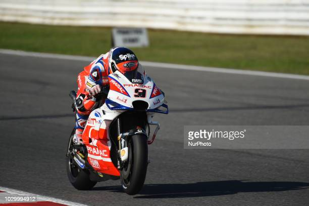 9 Italian driver Danilo Petrucci of Team Octo Pramac Racing driving during warm up in Misano World Circuit Marco Simoncelli in Misano Adriatico for...