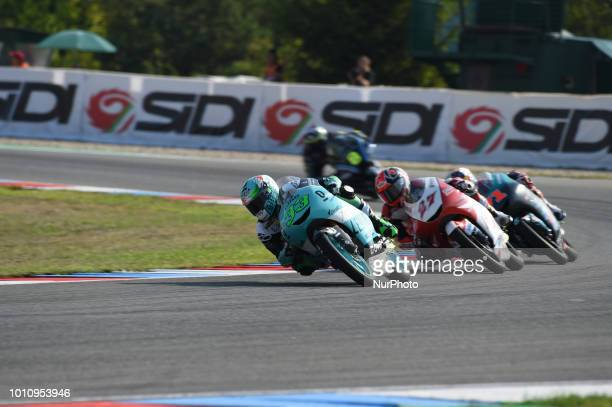 33 Italian driver Enea Bastianini of Team Leopard Racing 17 English driver John McPhee of Team CIP Green Power 71 Japanese driver Ayumu Sasaki of...