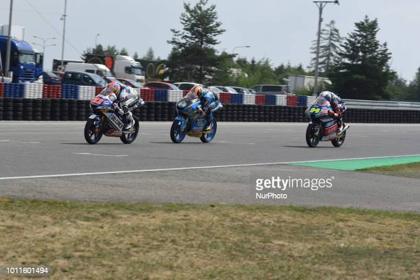 21 Italian driver Fabio Di Giannantonio of Team Del Conca Gresini 72 Spanish driver Alonso Lopez of Team Estrella Galicia 00 and 84 Czech driver...