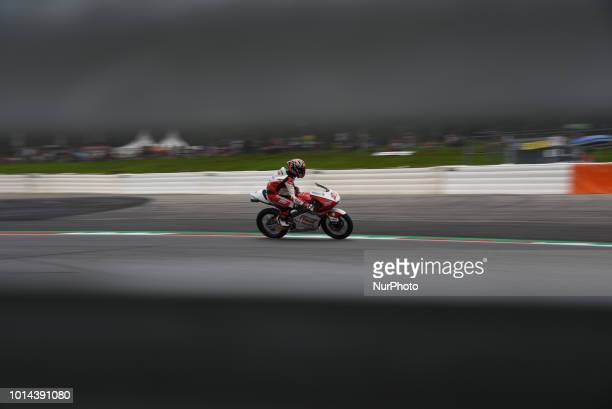 21 Italian driver Fabio Di Giannantonio of Team Del Conca Gresini race during free practice of Austrian MotoGP grand prix in Red Bull Ring in...