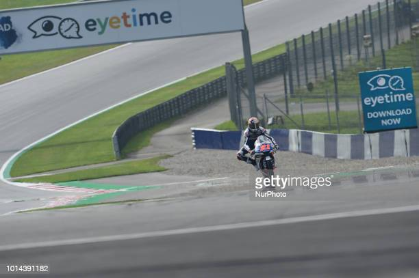21 Italian driver Fabio Di Giannantonio of Team Del Conca Gresini race during free practice of Austrian MotoGP grand prix in Red Bull Ring in...