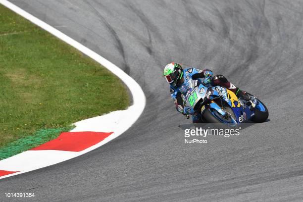 21 Italian driver Franco Morbidelli of Team EG 00 Marc VDS race during free practice of Austrian MotoGP grand prix in Red Bull Ring in Spielberg...