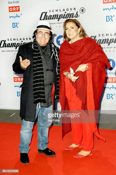 Italian duo Al Bano and Romina Power attend the 'Schlagerchampions Das grosse Fest der Besten' TV Show at Velodrom on January 13 2018 in Berlin...