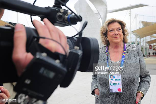 'Italian entrepreneur and president of Expo 2015 Diana Bracco attending the opening ceremony of Expo Milano ''Feeding the planet Energy for life''...