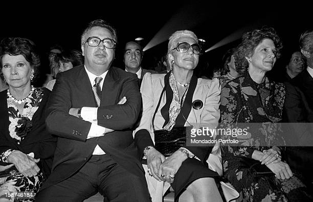 Italian entrepreneur and publisher Giuseppe Ciarrapico and Italian partisan and writer Maria Pia Fanfani attending the 7th National Friendship Day...