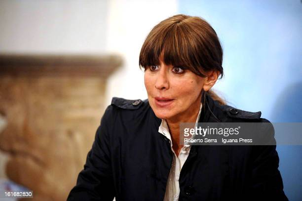 Italian ex Minister to European Policy and candidate to next parliamentary elections for PdL party Anna Maria Bernini attends an electoral event in...