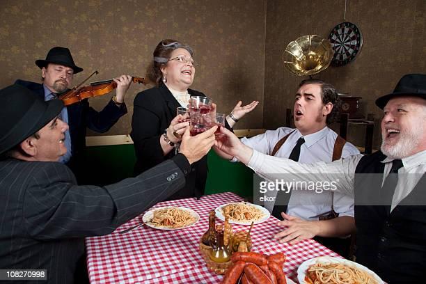 Italian family celebration