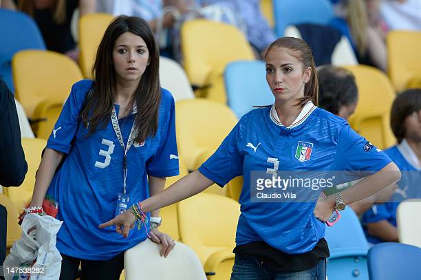 Italian fans before the UEFA EURO 2012 final match between Spain and Italy at the Olympic Stadium on July 1 2012 in Kiev Ukraine