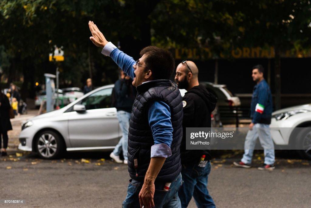 Forza Nuova march in Rome : News Photo