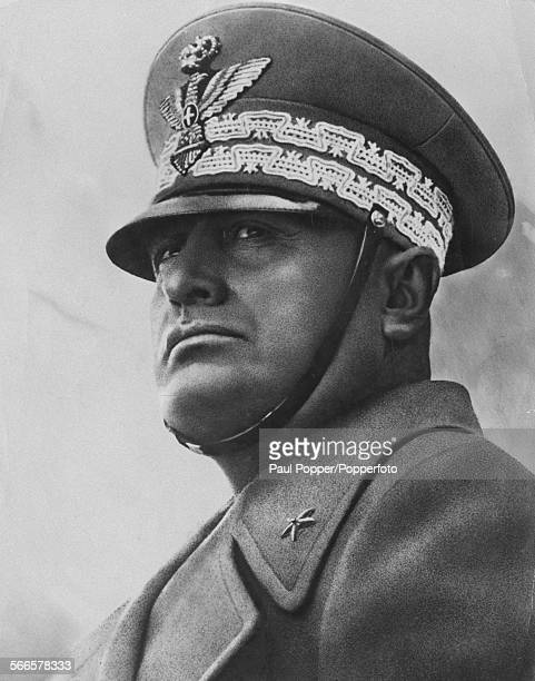 Italian Fascist dictator Benito Mussolini in uniform circa 1940