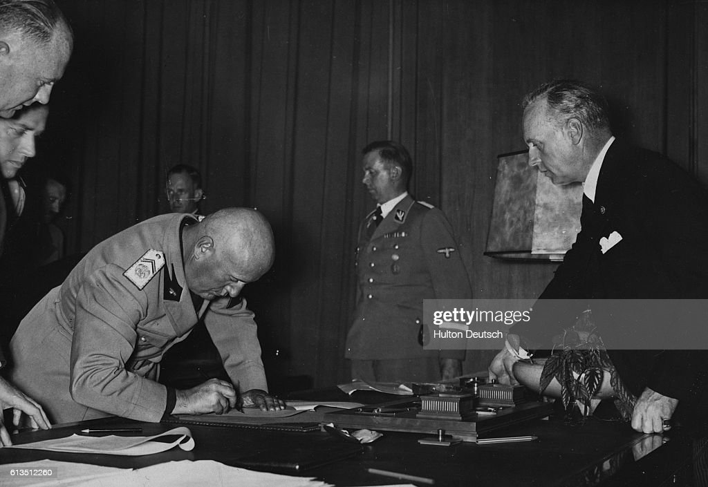 Munich Agreement Signed Pictures Getty Images