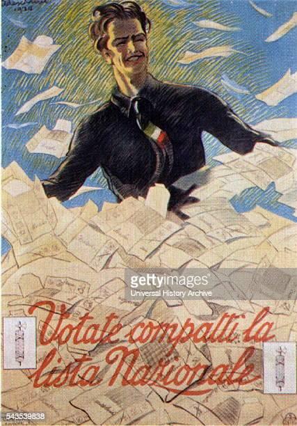 Italian Fascist Propaganda poster Dated 20th Century