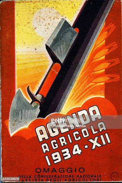 Italian Fascist propaganda poster for the National Agriculture agency Dated 20th Century