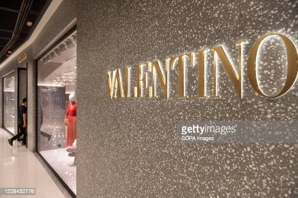 Italian fashion clothing company Valentino store seen in Hong Kong