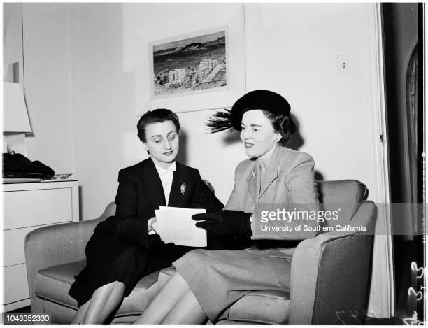 Italian fashion designer 4 October 1951 Micol Fontana BabetteCaption slip reads 'Photographer Miller Date 1004 Reporter Babette Assignment Italian...
