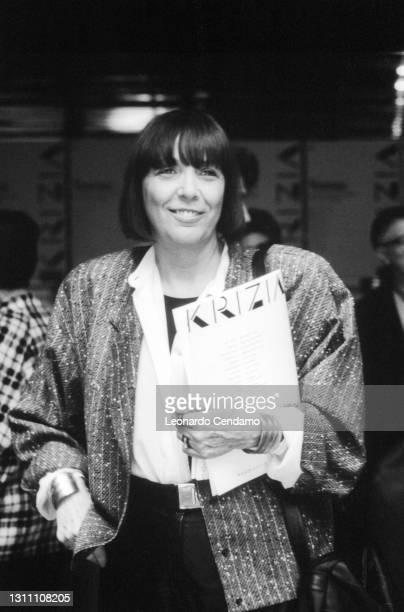 Italian fashion designer and entrepreneur Krizia aka Mariuccia Mandelli , Milan, Italy, circa 1990.