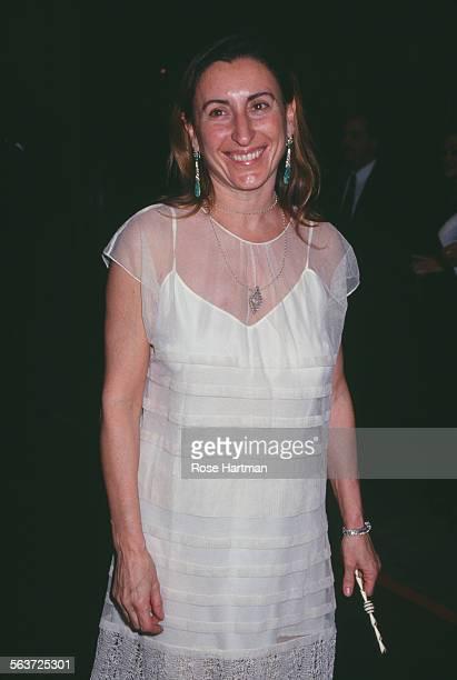 Italian fashion designer and entrepreneur Miuccia Prada attends the CFDA Awards, New York City, circa 1993.