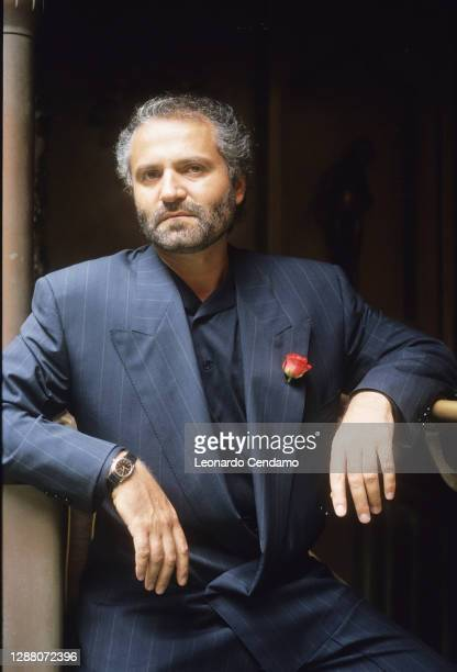Italian fashion designer and founder of Versace Gianni Versace , Rome, Italy, 27th May 1985.