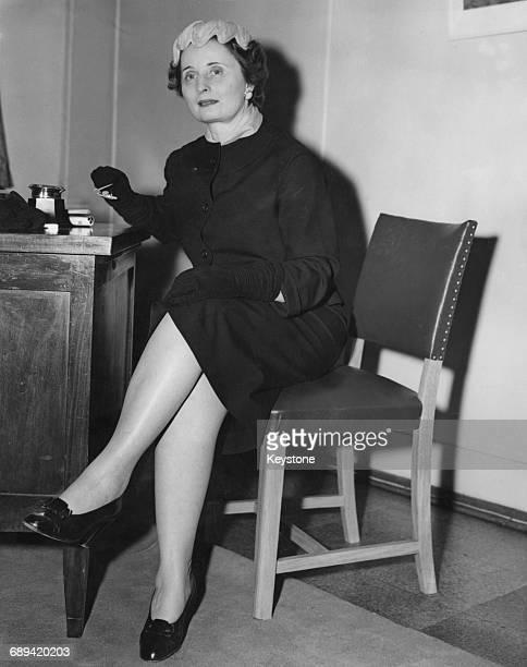 Italian fashion designer Elvira Leonardi Bouyeure aka Biki shortly after her arrival in London 28th June 1954