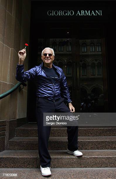 44 Giorgio Armani Visits Flagship Sydney Store Photos And Premium High Res Pictures Getty Images