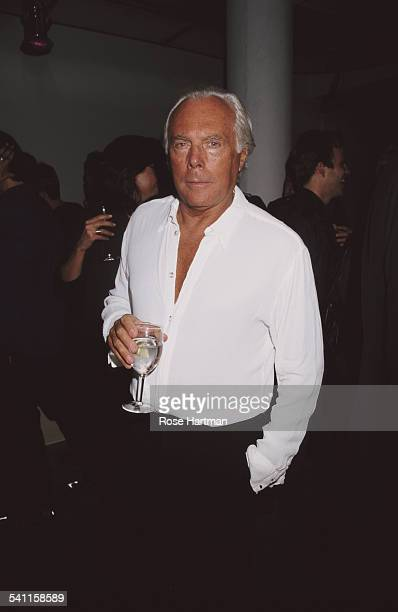 Italian fashion designer Giorgio Armani at a private party USA circa 1995
