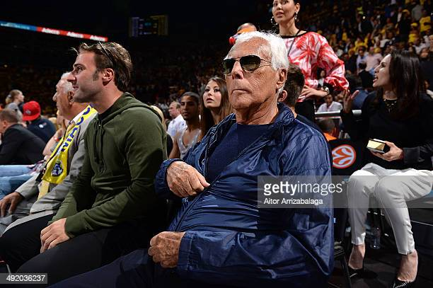Italian fashion designer Giorgio Armani attends the Turkish Airlines EuroLeague Final Four Final game between Real Madrid vs Maccabi Electra Tel Aviv...