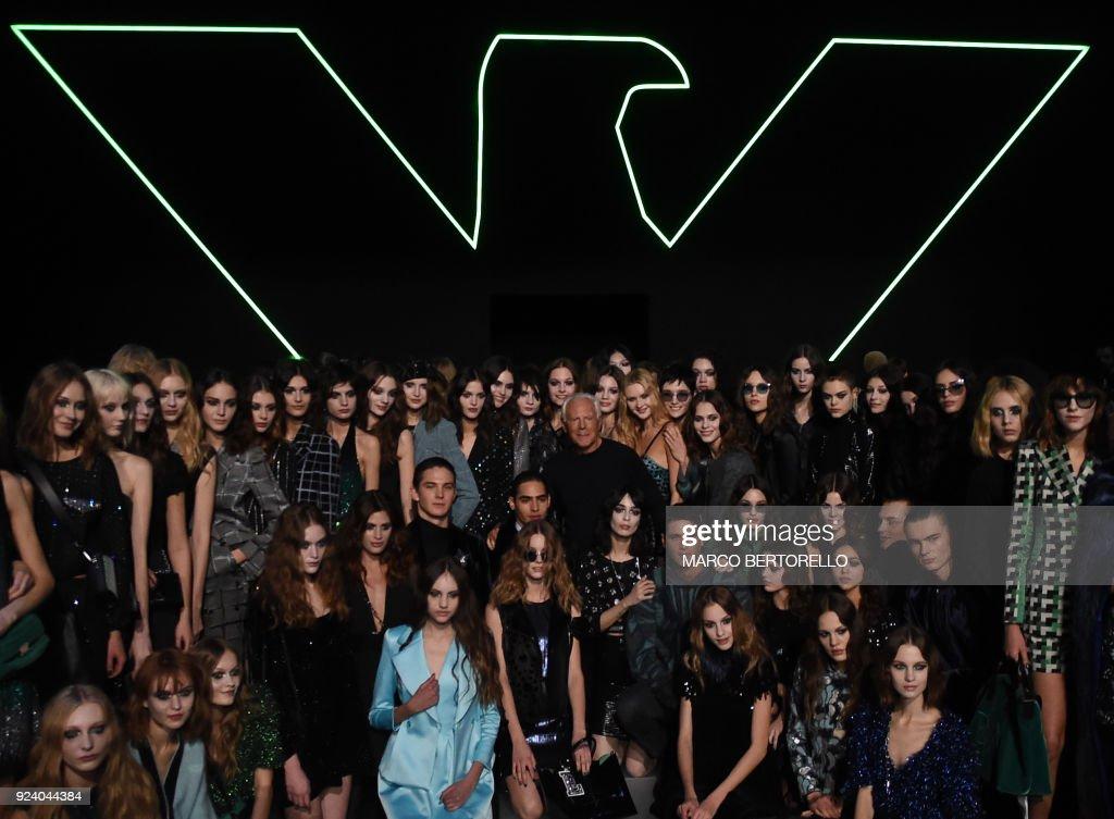 Emporio Armani - Runway - Milan Fashion Week Fall/Winter 2018/19