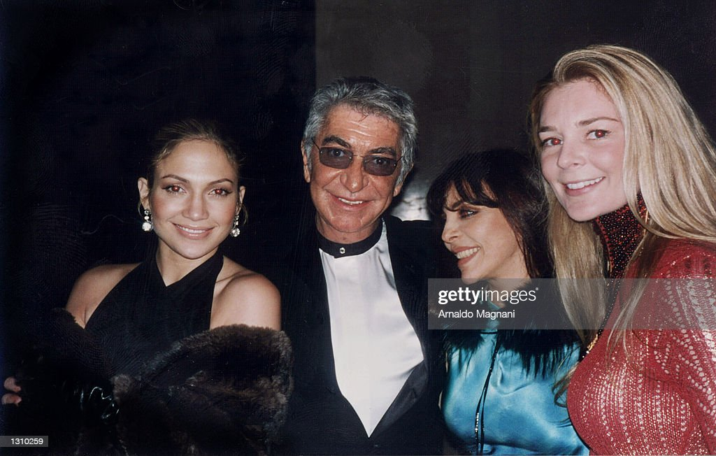 Italian Fashion Designer Roberto Cavalli Center Poses With Actress News Photo Getty Images
