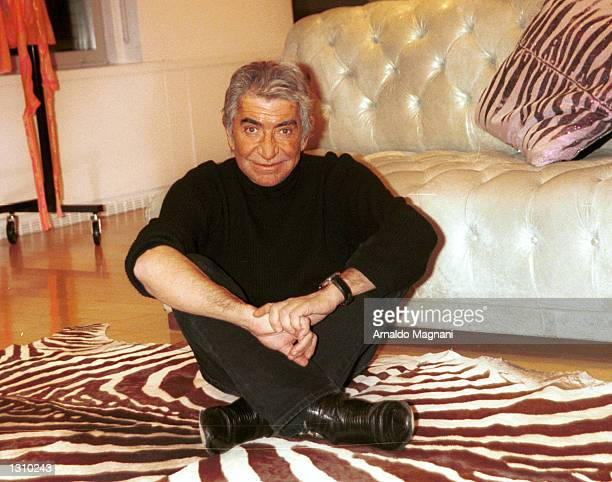 Italian fashion designer Roberto Cavalli poses for a portrait December 6 2000 at his New York City showroom Cavalli is known for his striking use of...