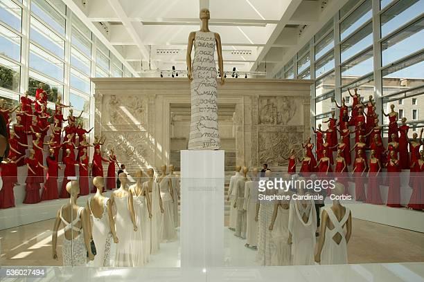 Italian fashion designer Valentino Garavani opens exhibition celebrating 45 years of his fashion and art designing at Rome's Ara Pacis