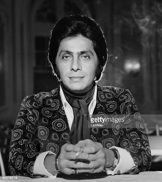 Italian fashion designer Valentino, photographed at the Savoy Hotel in London on 6th November 1968. .
