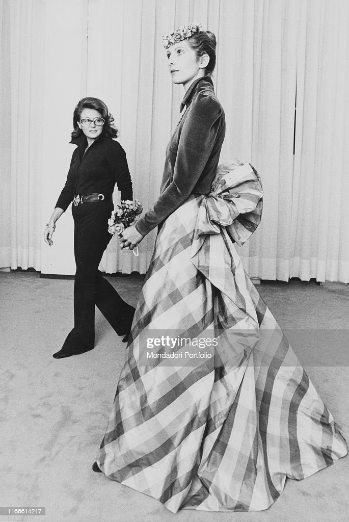 Italian Fashion Designer Wanda Roveda Looking At One Of Her Dressed News Photo Getty Images
