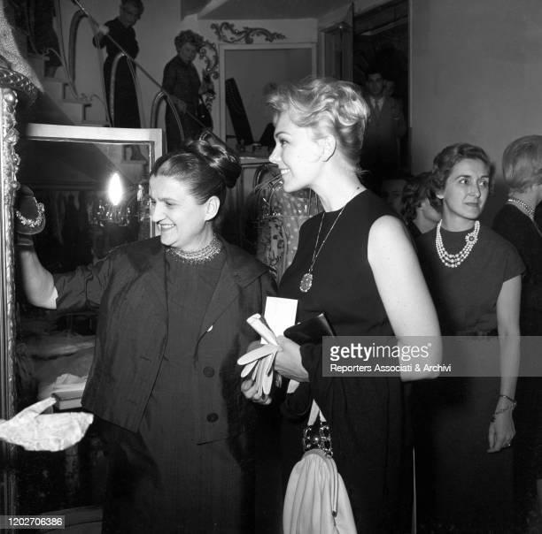 Italian fashion designer Zoe Fontana - who founded the Sorelle Fontana fashion house together with her sisters and Italian fashion designers Micol...