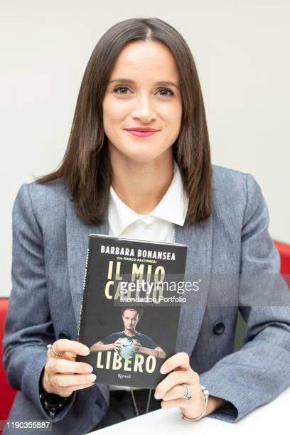 Italian female soccer player Barbara Bonansea presents her biography My Free Football on November 26 2019 in MIlan Italy
