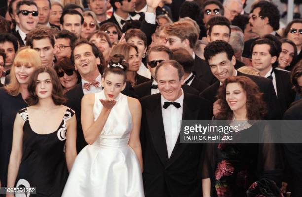 Italian film director Bernardo Bertolucci accompanied by US actress Liv Tyler and Italian actress Stefania Sandrelli arrives for the screening of his...