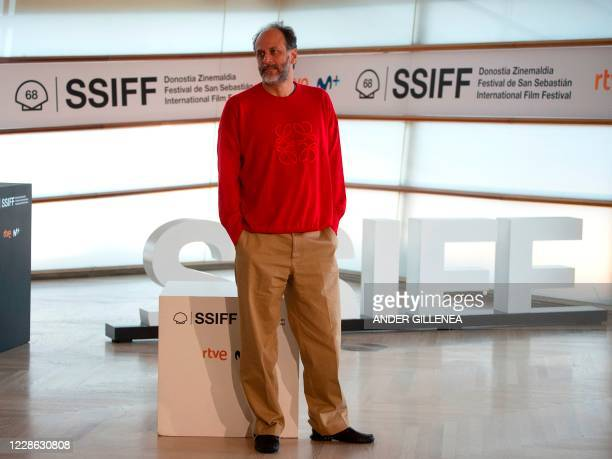 """Italian film director Luca Guadagnino poses during a photocall after the screening of the film """"We are who we are"""" during the 68th San Sebastian Film..."""