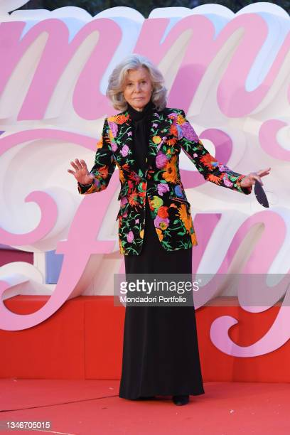 Italian film screenwriter Marina Cicogna at Rome Film Fest 2021. The Eyes of Tammy Faye Red Carpet. Rome , October 14th, 2021